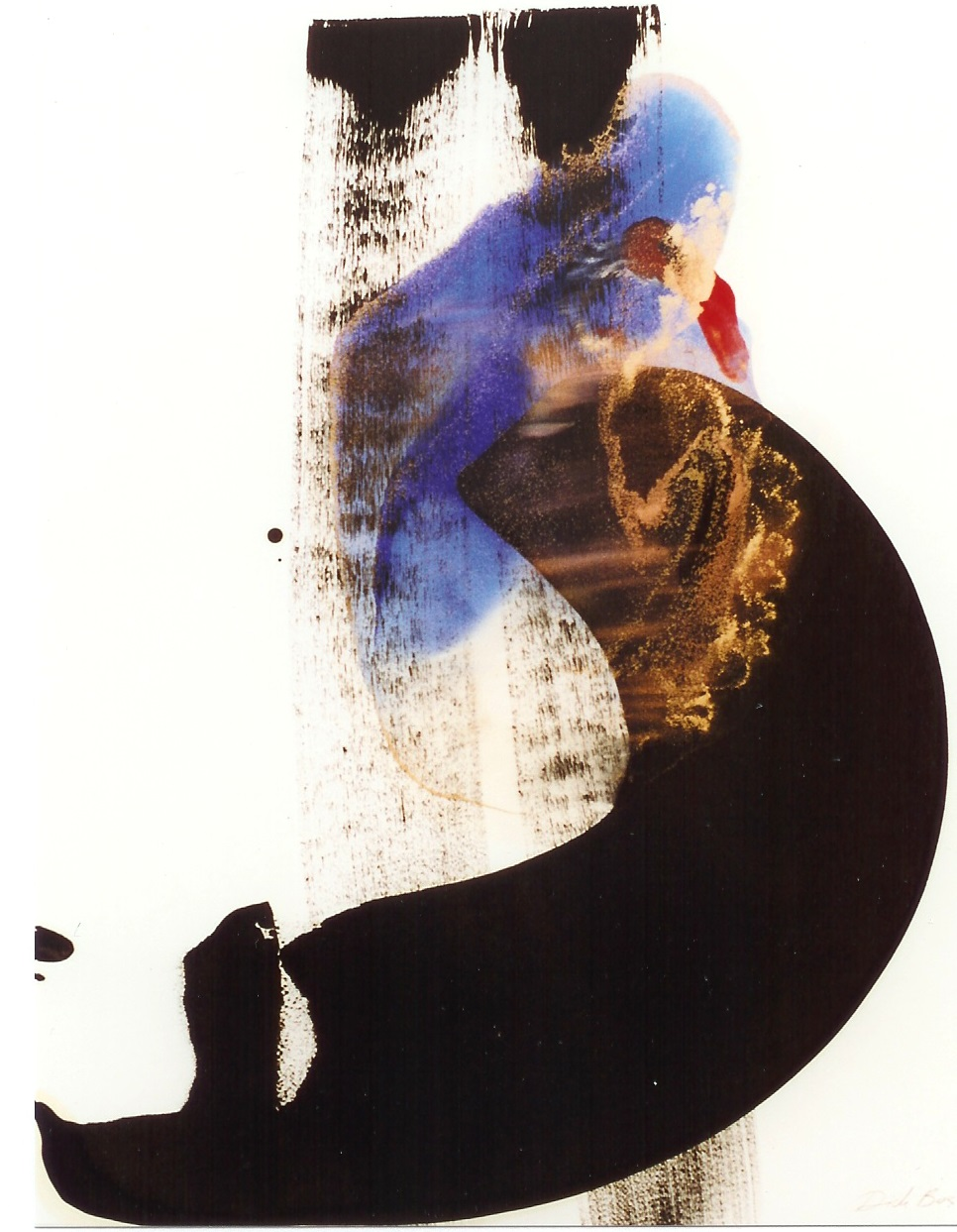 <p>olieverf ,pigment en vernis op 350grams fabriano papier. 70x100cm</p>